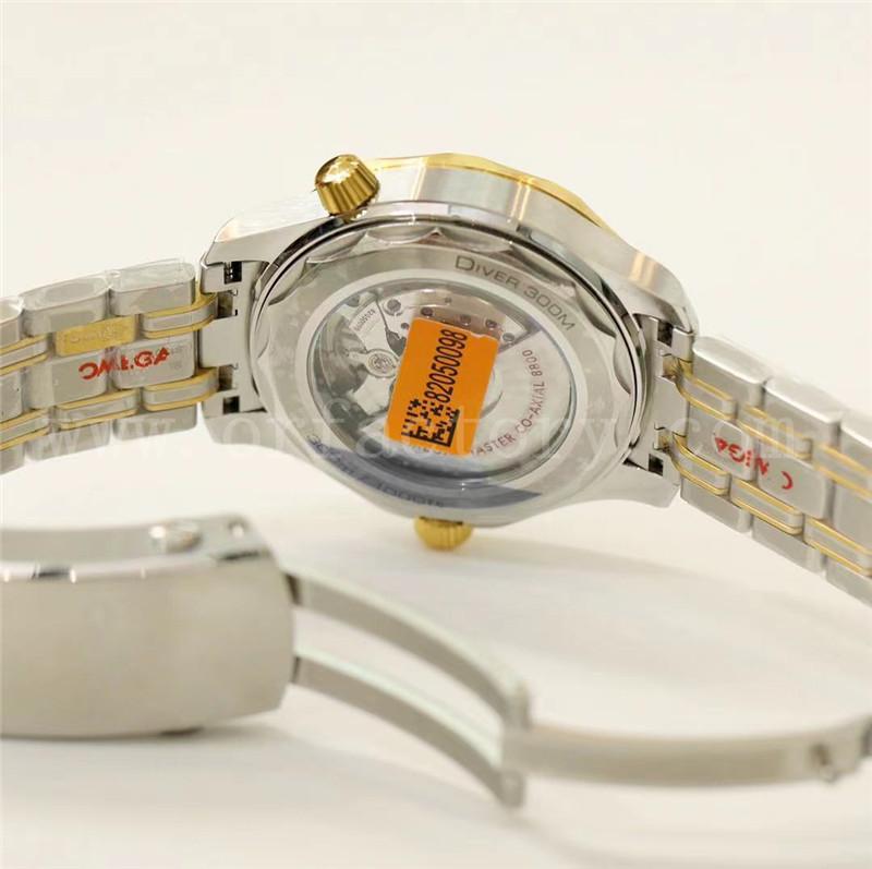 OR厂复刻欧米茄海马300m腕表评测-间金波纹黑盘