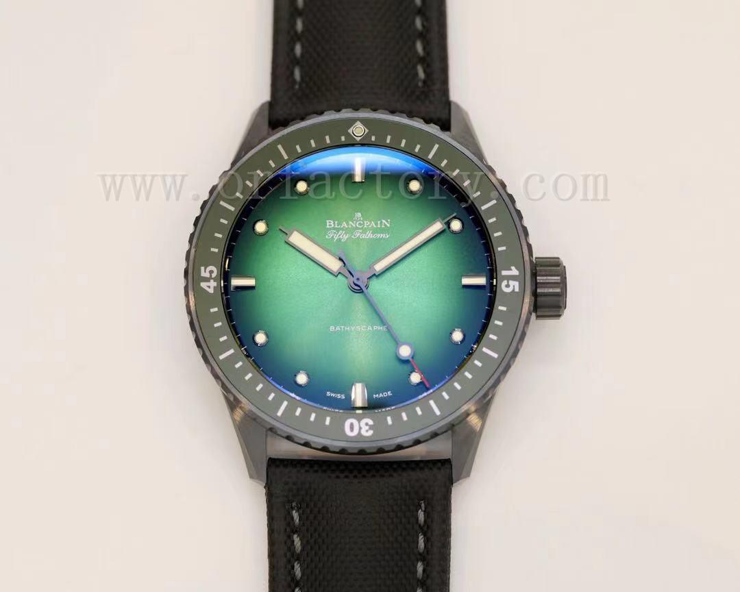 GF厂宝珀五十噚5005无沟双髻鲨深潜器限量版腕表详细评测