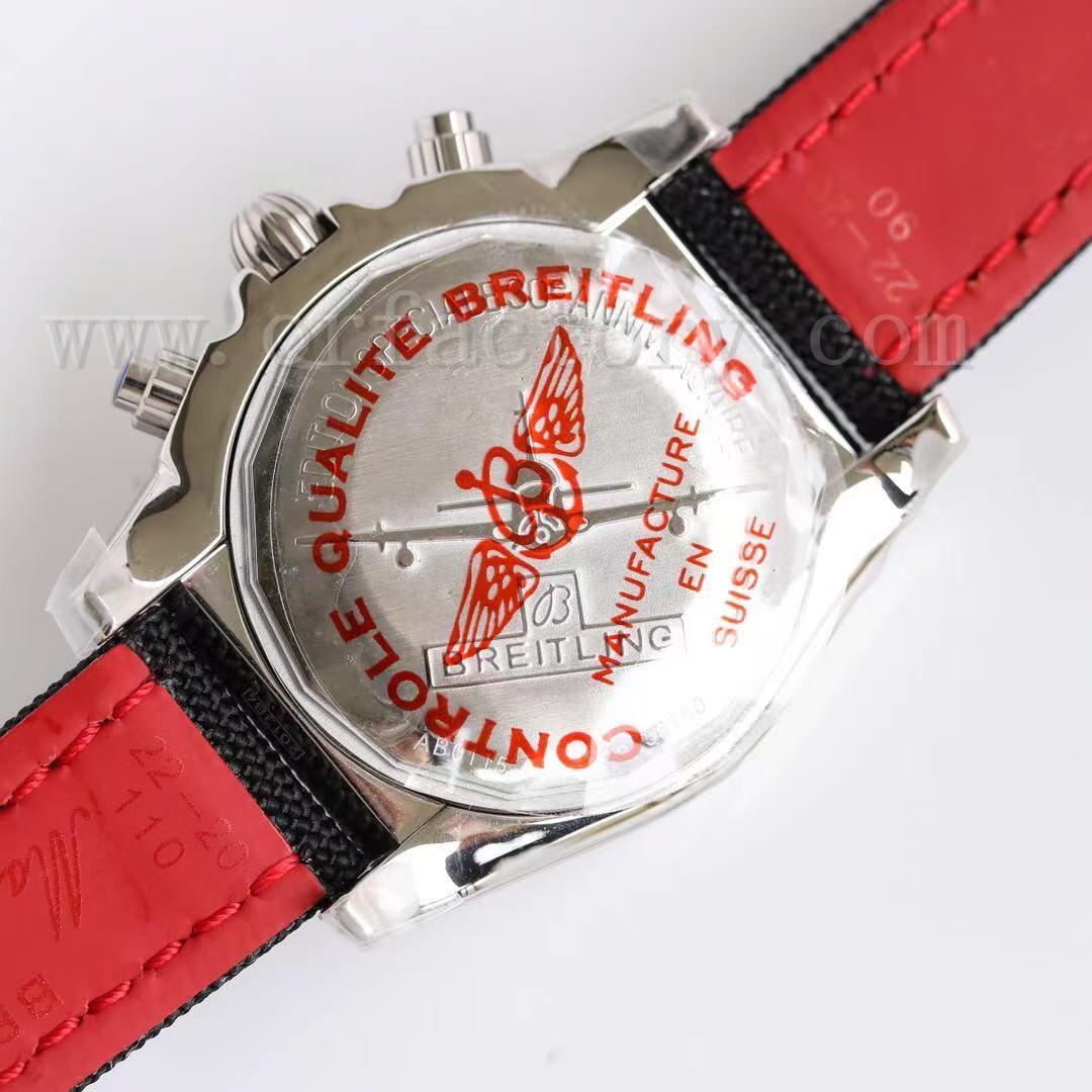 GF厂百年灵王牌飞行员熊猫眼计时机械腕表详细评测