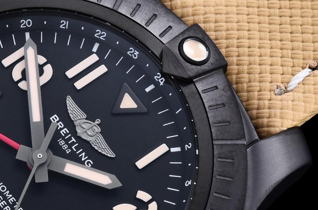GF厂百年灵复仇者夜间任务版炭黑钛金属腕表