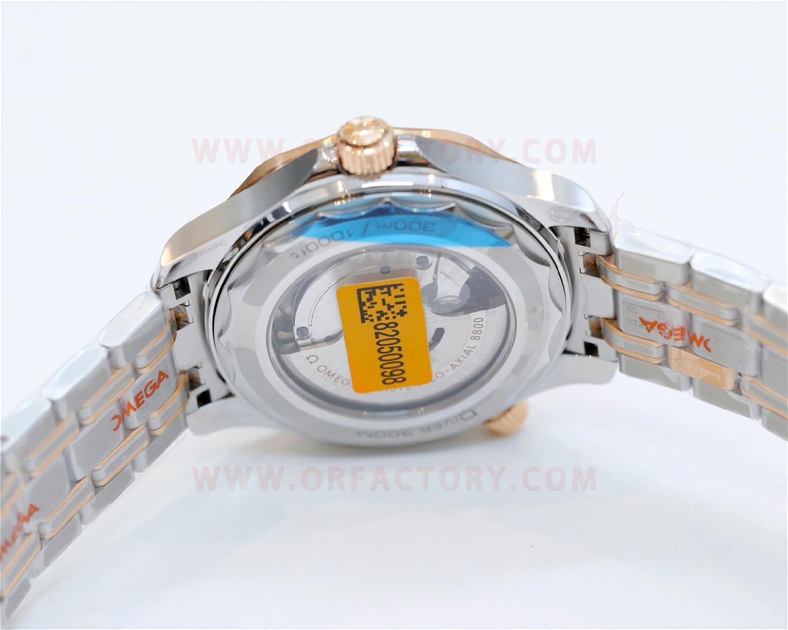 OR厂复刻欧米茄新海马300m腕表评测-间玫瑰金波纹黑盘