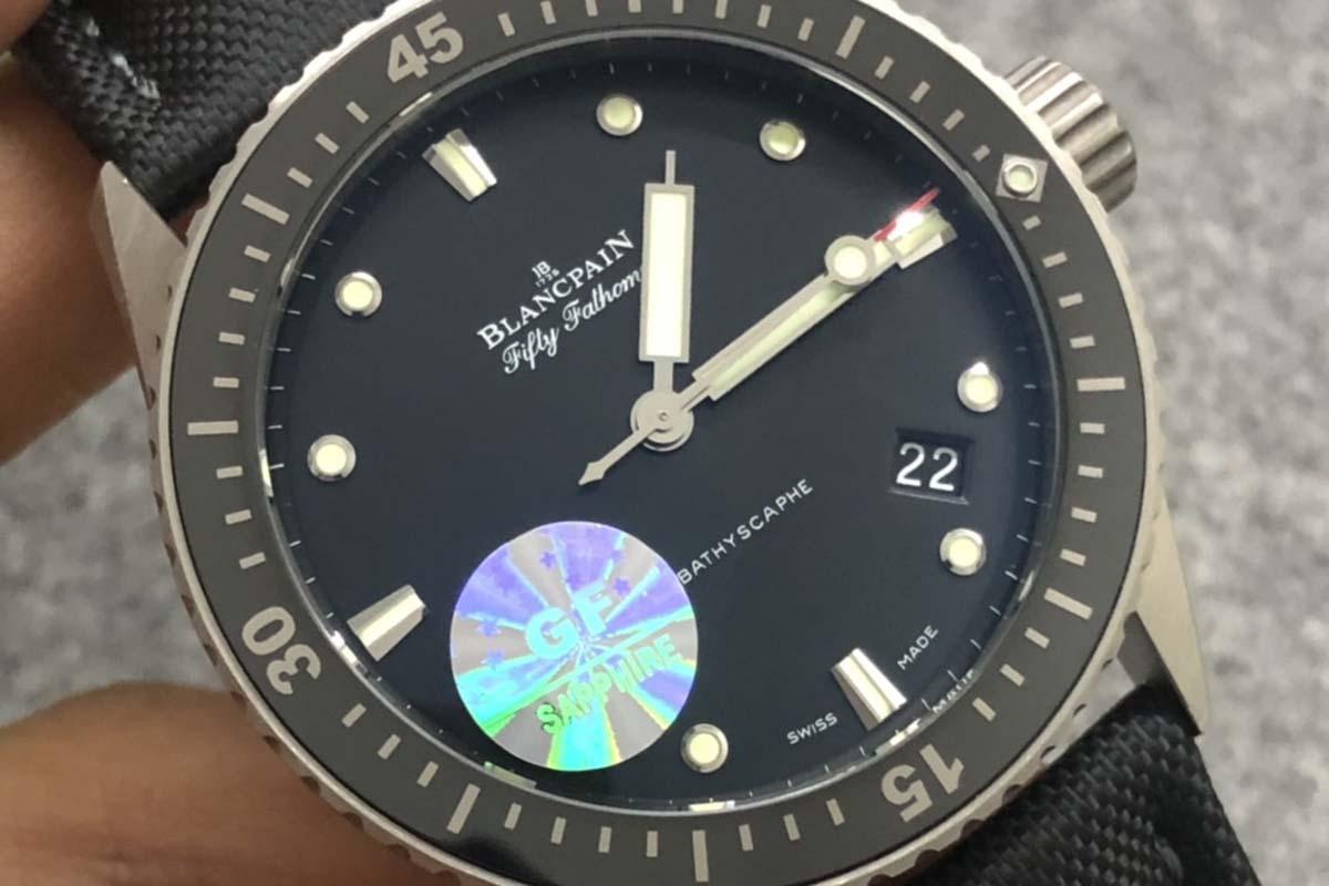 GF厂宝珀五十寻钛金属材质复刻腕表做工细节深度评测-品鉴GF厂腕表