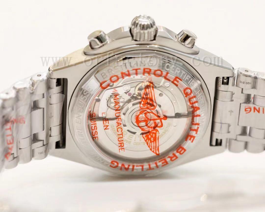 GF厂百年灵机械计时B01鲑鱼铜腕表详细评测