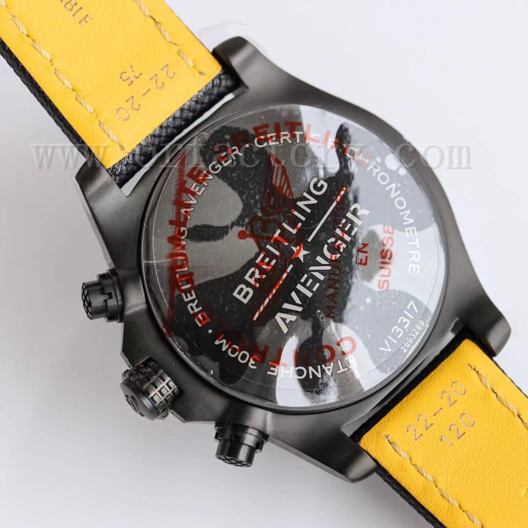 GF厂百年灵复仇者计时腕表评测45mm夜间任务版