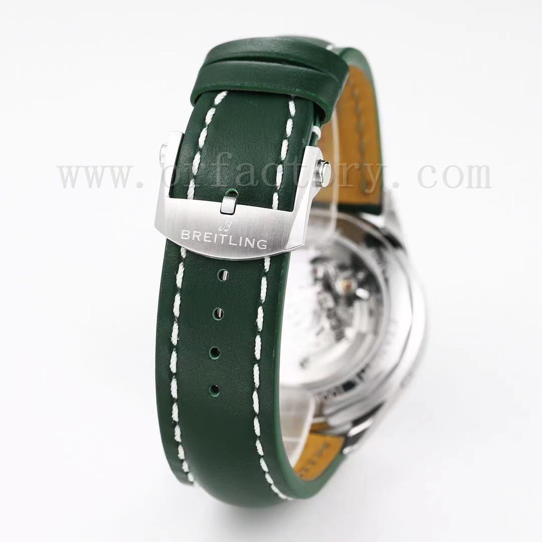 GF厂百年灵璞雅计时B01腕表评测,宾利欧陆GT特别版绿盘V2版