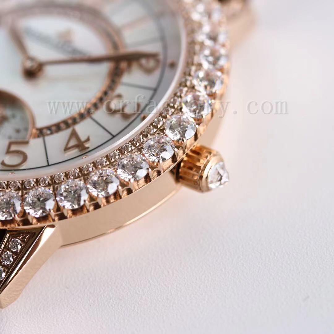 GF厂积家约会Q3432570日夜显示珠宝女士腕表评测,玫瑰金