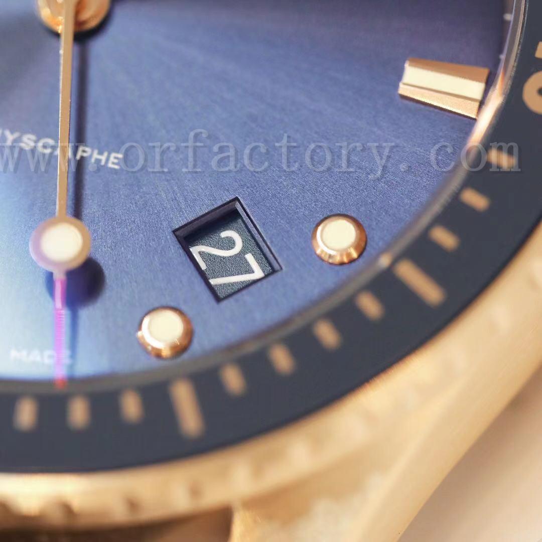 GF厂宝珀五十噚5000蓝色缎面电镀K金深潜器腕表评测
