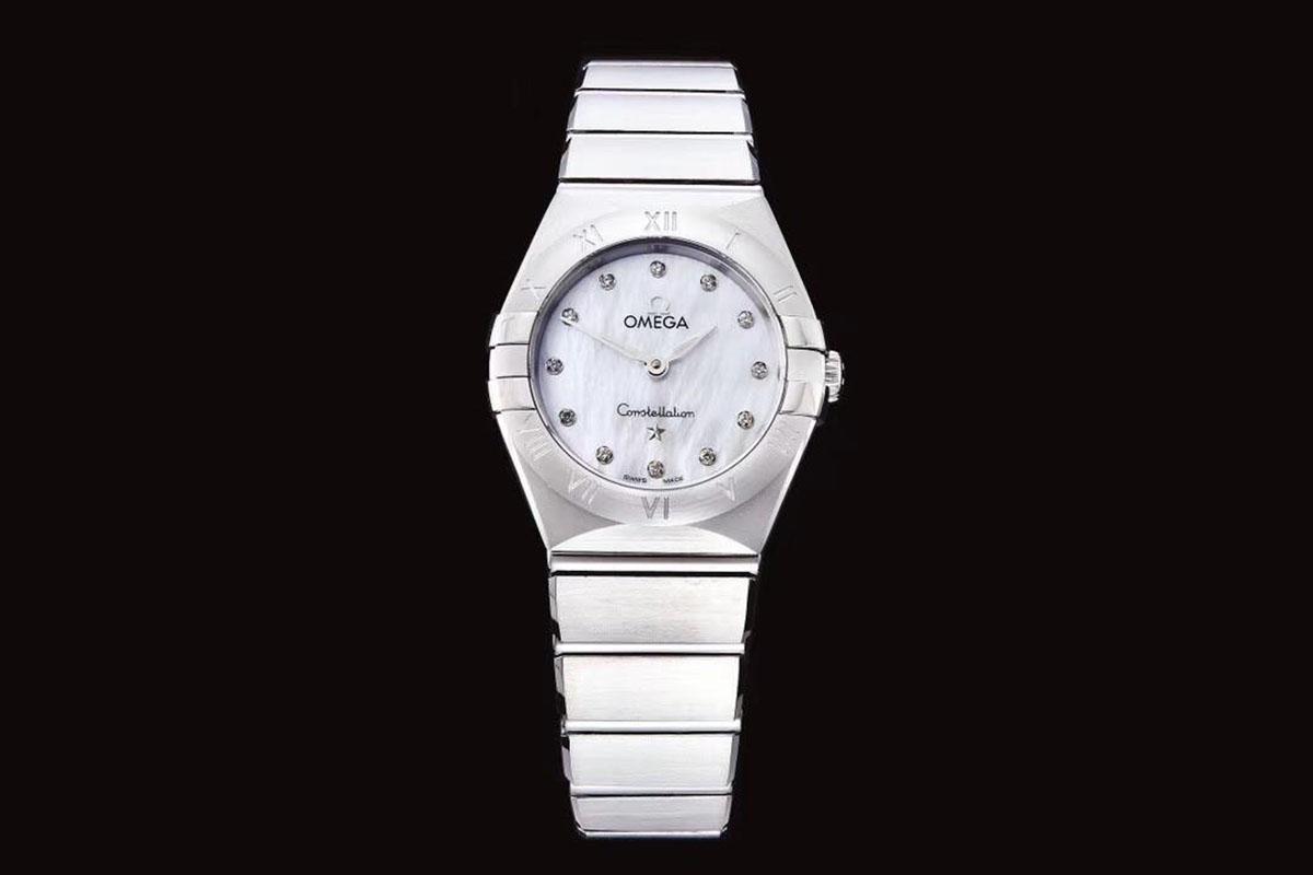 GF厂欧米茄星座系列25毫米贝壳白面复刻腕表做工质量究竟如何-品鉴GF厂女士腕表