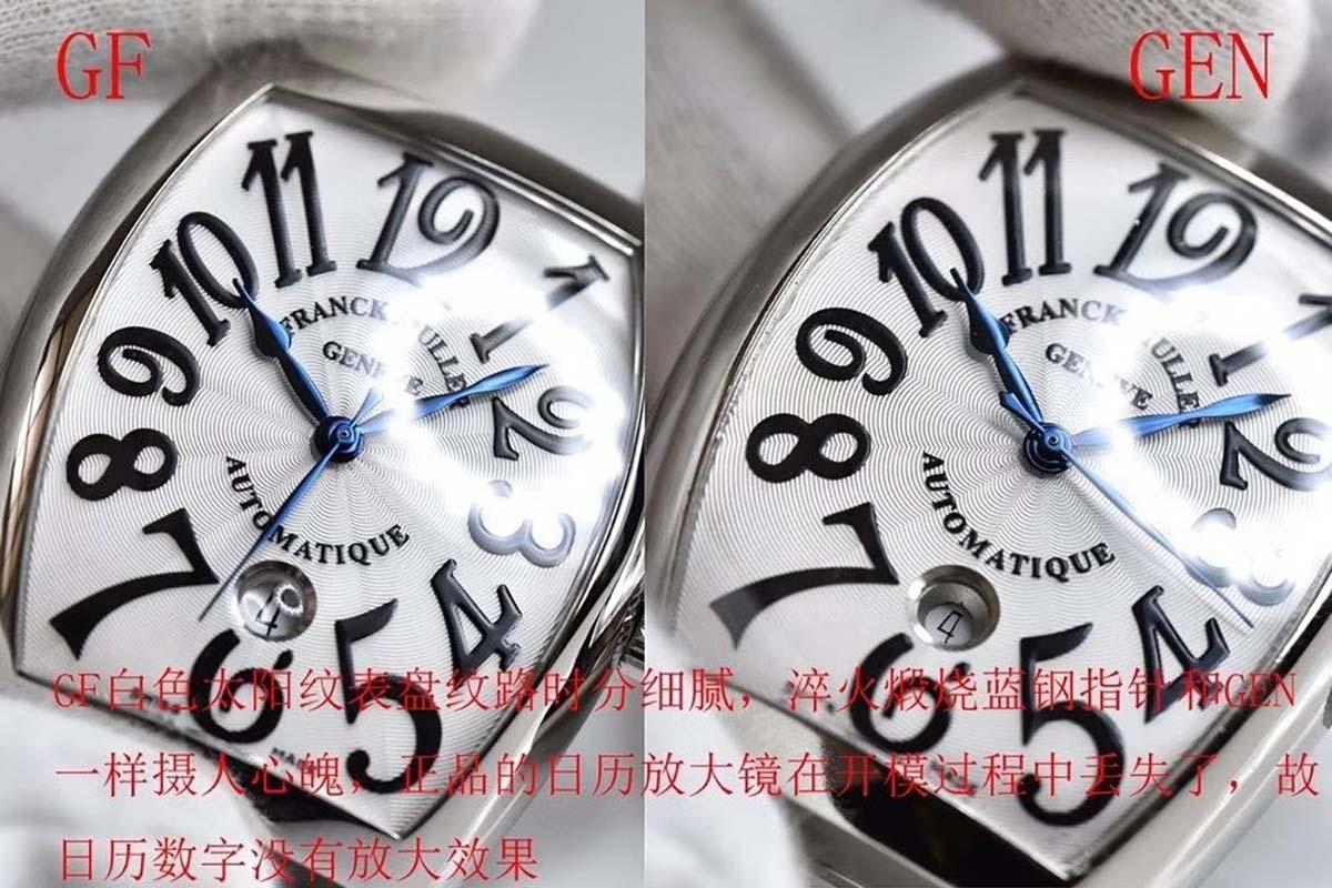 GF厂法兰克穆勒酒桶款式复刻腕表对比正品图文评测