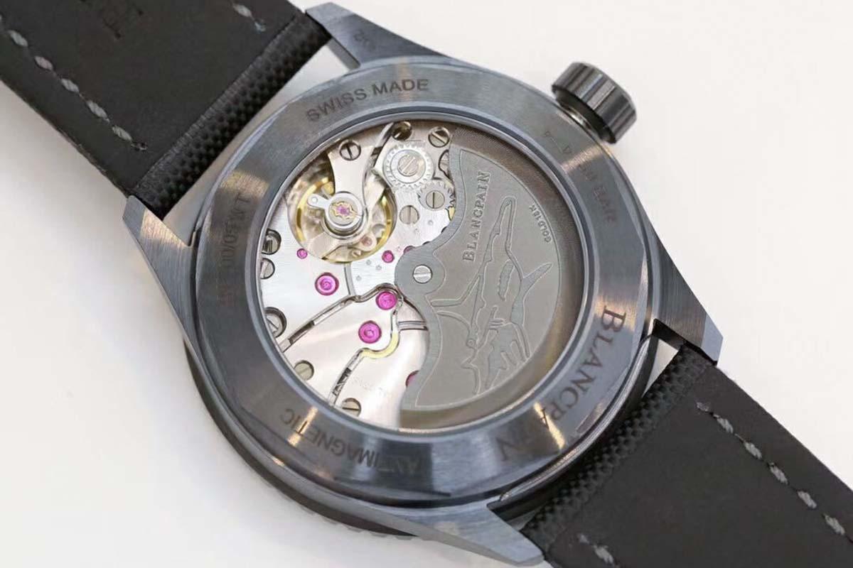 GF厂宝珀五十噚系列5005极光绿复刻腕表做工细节评测-品鉴GF厂腕表