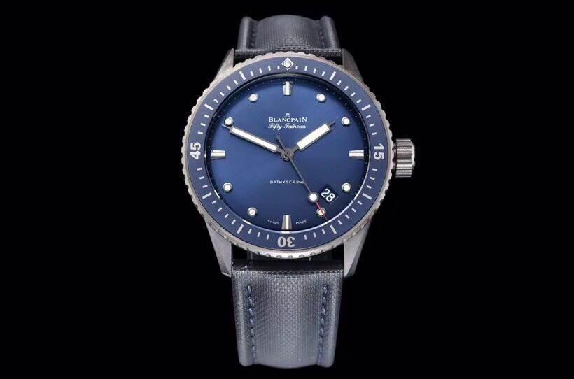 GF厂宝珀五十噚5000系列蓝盘复刻腕表做工细节如何-品鉴GF厂腕表