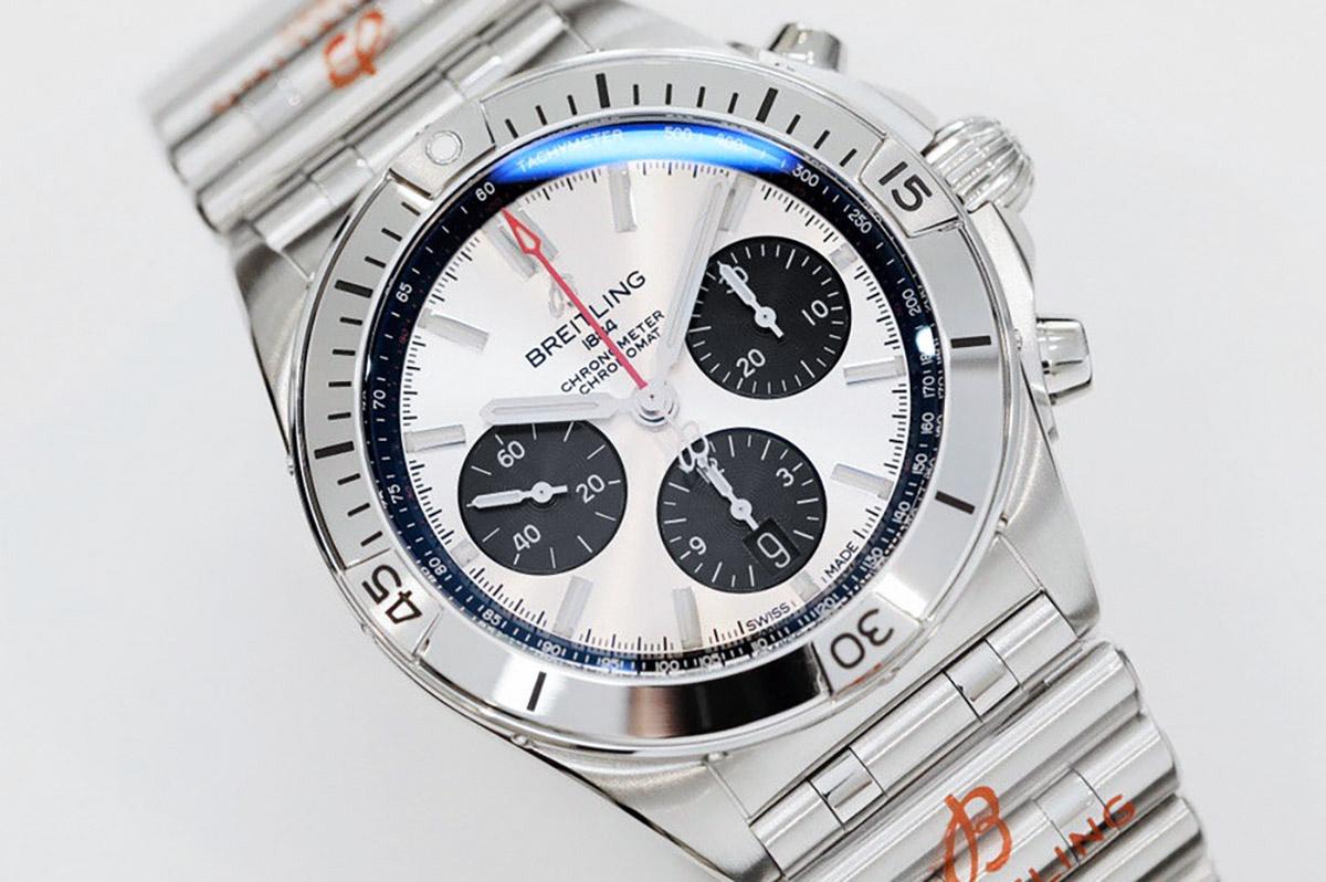 GF百年灵机械计时系列银色熊猫盘复刻腕表评测-品鉴现代复古风格腕表款式