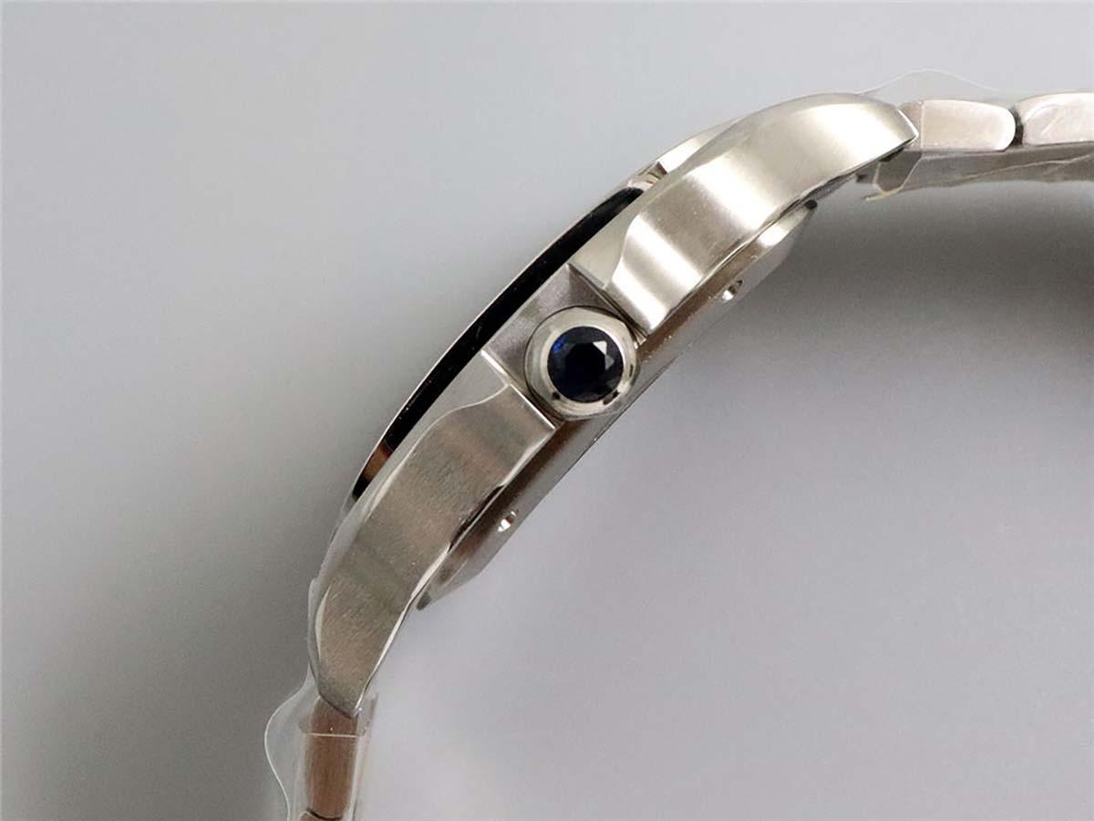 GF厂卡地亚山度士蓝血贵族复刻腕表做工细节深度测评-品鉴GF山度士蓝盘