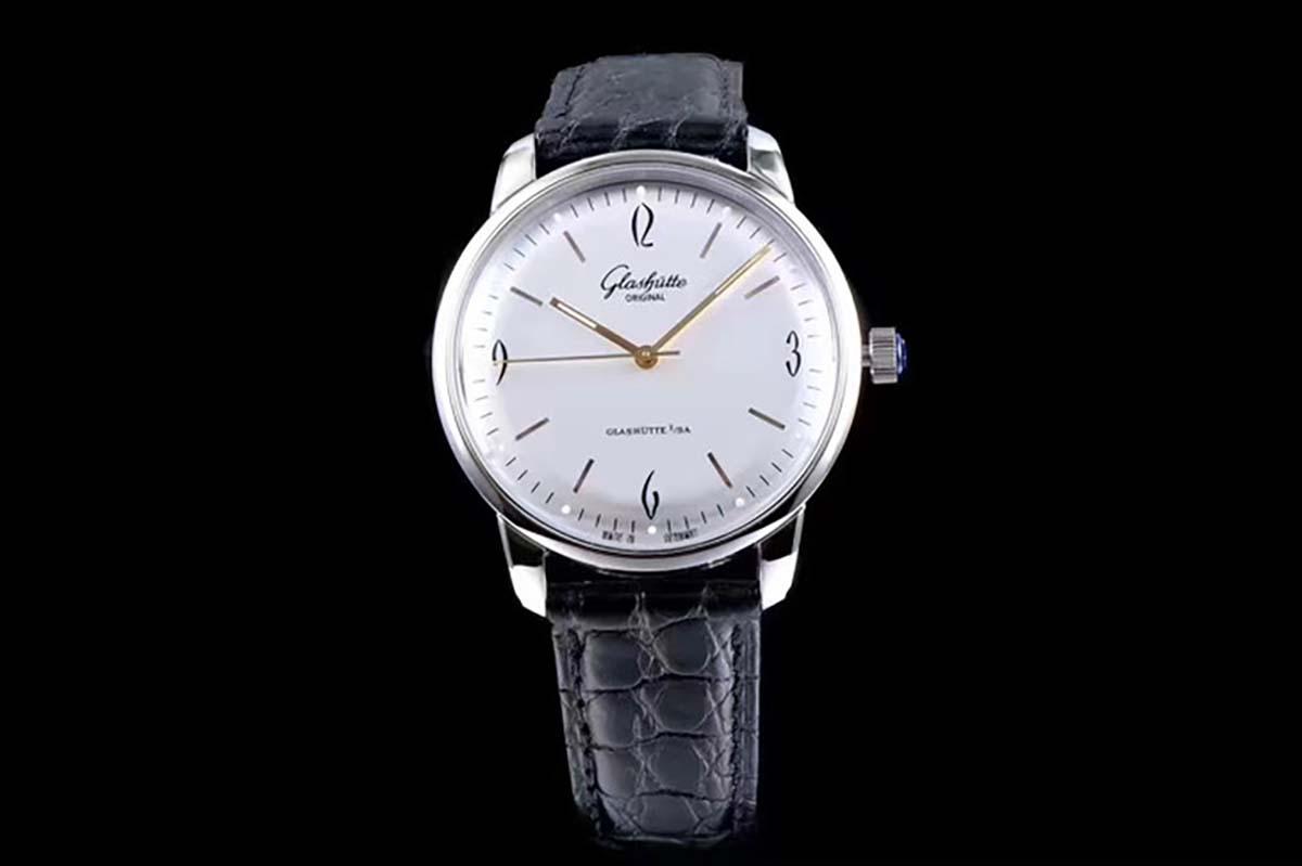 GF厂复刻版格拉苏蒂原创复古系列白盘腕表做工细节如何-品鉴GF厂德式复刻腕表