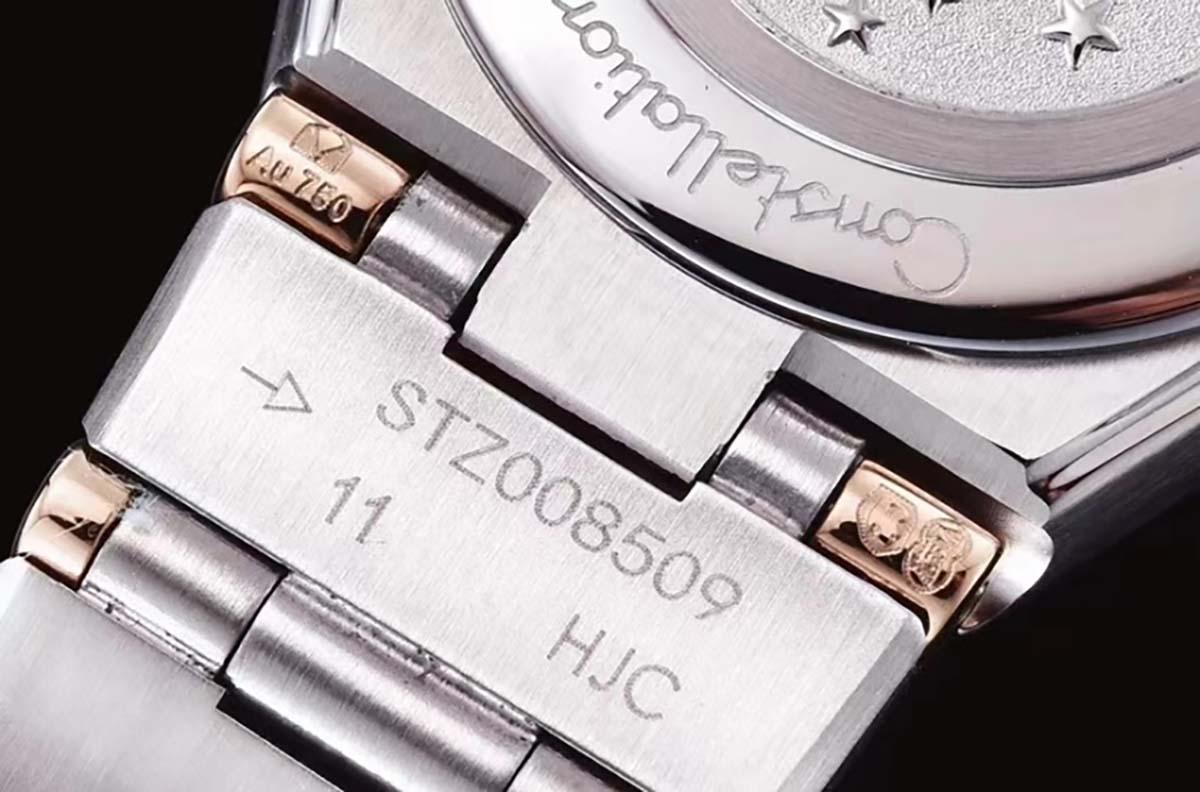 GF厂欧米茄星座系列间玫瑰金款星空蓝字面复刻腕表做工深度评测