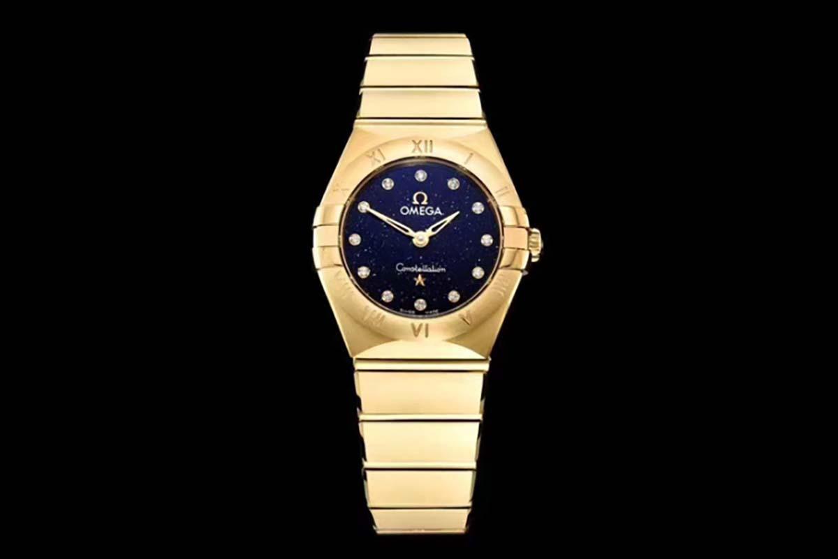 GF厂欧米茄星座系列25毫米金壳星空字面复刻腕表做工质量如何-品鉴GF厂复刻