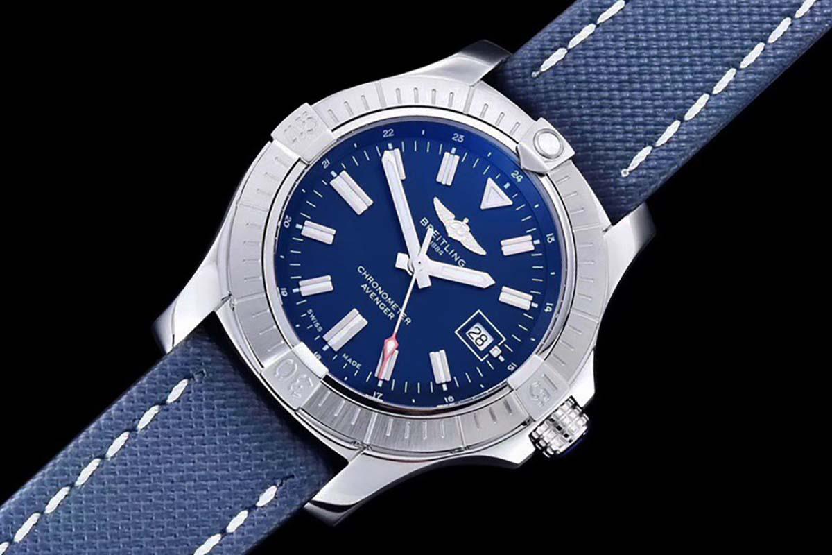 GF厂百年灵复仇者系列43毫米蓝盘自动机械复刻腕表做工质量细节评测-品鉴GF厂腕表