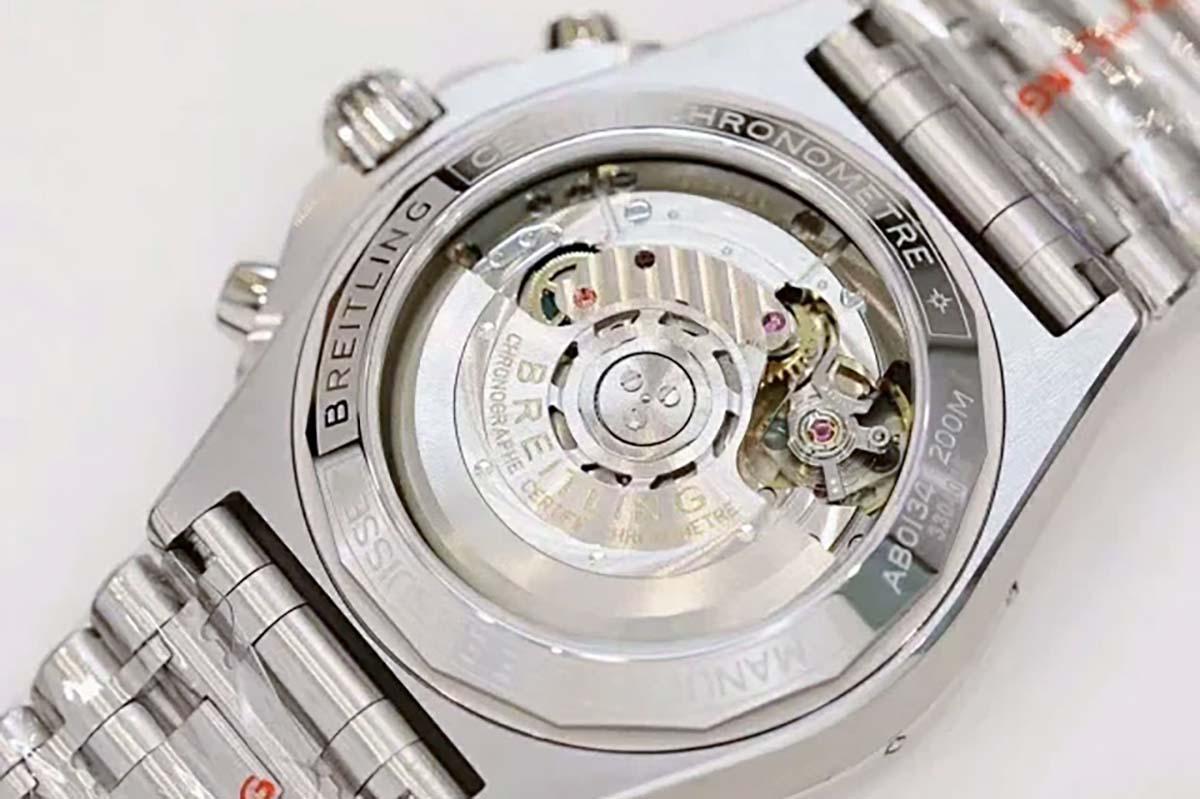 品鉴百年灵百年灵机械B01计时系列铜色盘面腕表-GF厂复刻版本如何