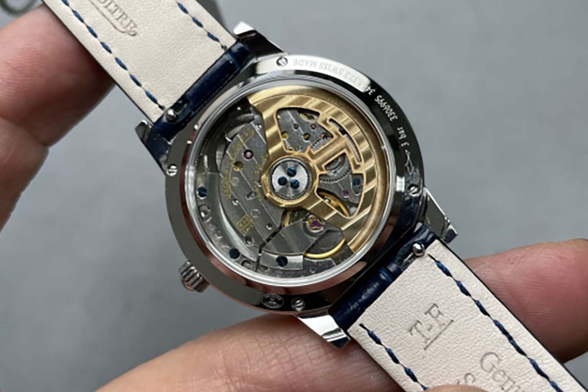 GF厂积家约会系列白盘蓝针复刻腕表评测-搭载一体化机芯