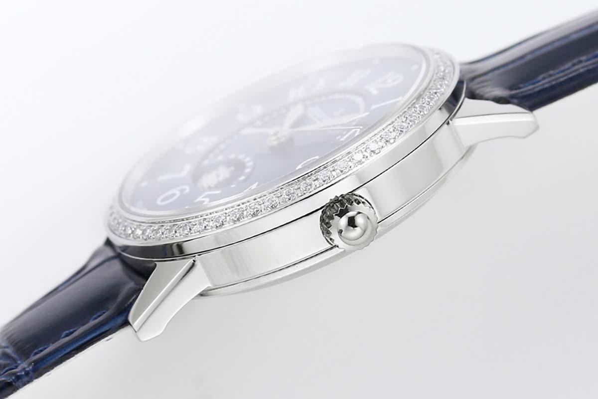 GF厂积家约会系列蓝色字面复刻腕表做工细节评测「3448480」