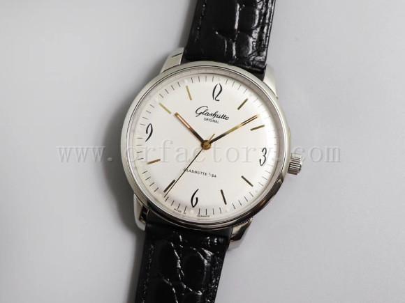 GF厂格拉苏蒂原创复古系列白盘金针复刻腕表做工细节评测-复古风格腕表款式推荐