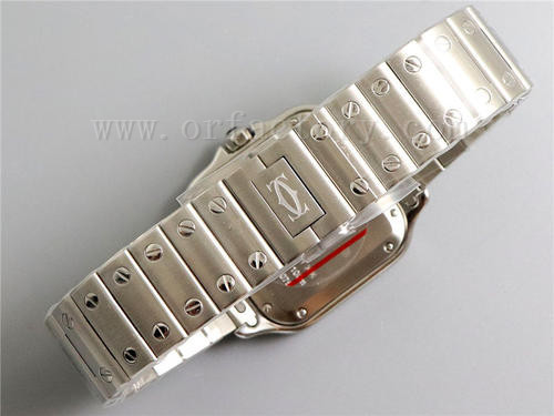 GF厂卡地亚山度士WSSA0013蓝盘腕表详细评测,蓝血贵族