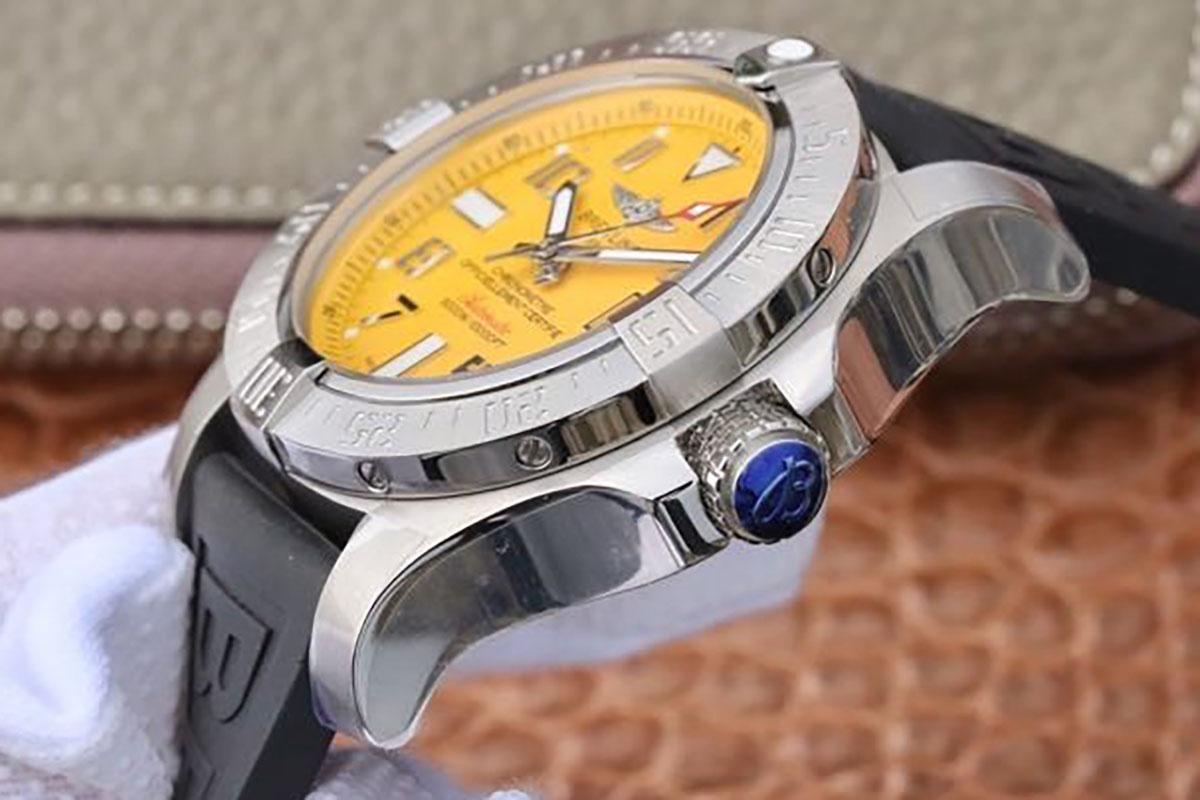 百年灵复仇者深潜海狼黄色字面腕表「A17331101I1S2」GF厂制作的版本又是如何