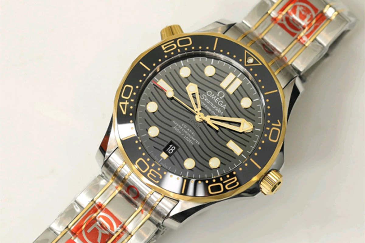 OR厂欧米茄新海马300间玫瑰金黑盘复刻腕表做工细节深度评测-品鉴OR厂复刻