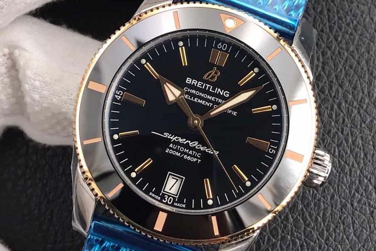 GF厂百年灵超级海洋文化二代间玫瑰金款复刻腕表做工细节深度评测-GF厂制作还原的究竟如何