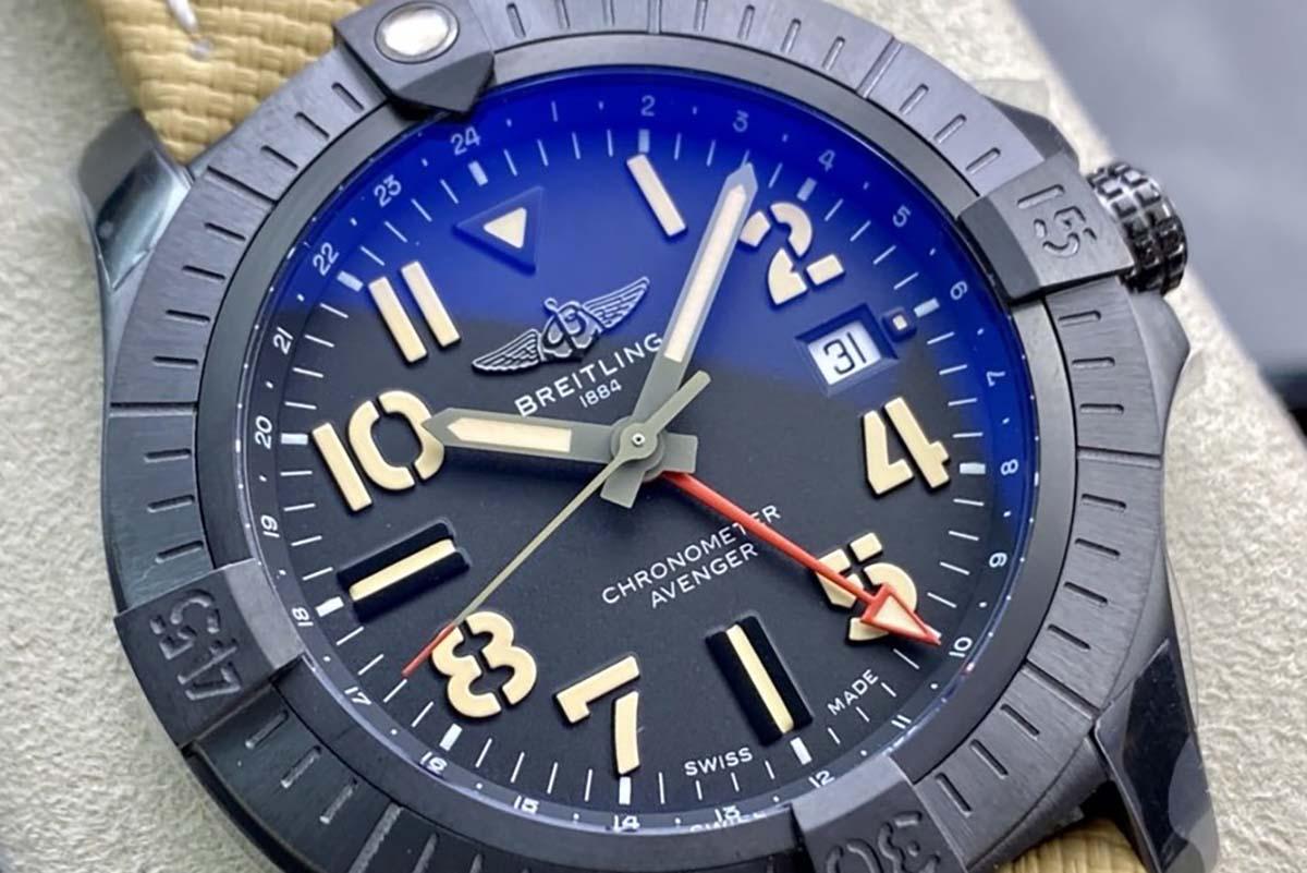 GF厂复仇者系列钛金属材质材质世界时45夜间任务复刻腕表做工细节深度评测