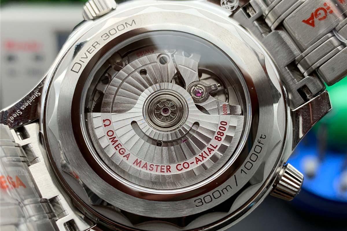 OR厂欧米茄海马系列300米蓝色波浪字面复刻腕表做工细节深度评测