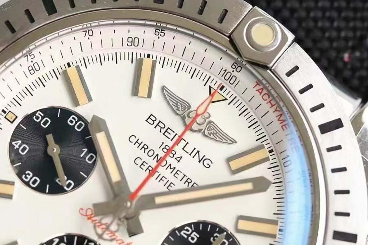 GF厂王牌飞行员41计时系列熊猫眼复刻腕表做工细节深度评测-品鉴GF厂腕表