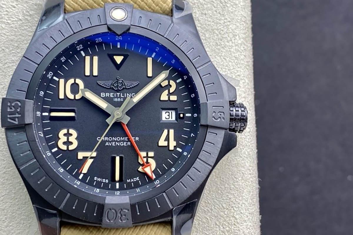 GF厂复刻版百年灵复仇者系列炭黑钛金属夜间任务版腕表还原的究竟如何-品鉴GF厂腕表