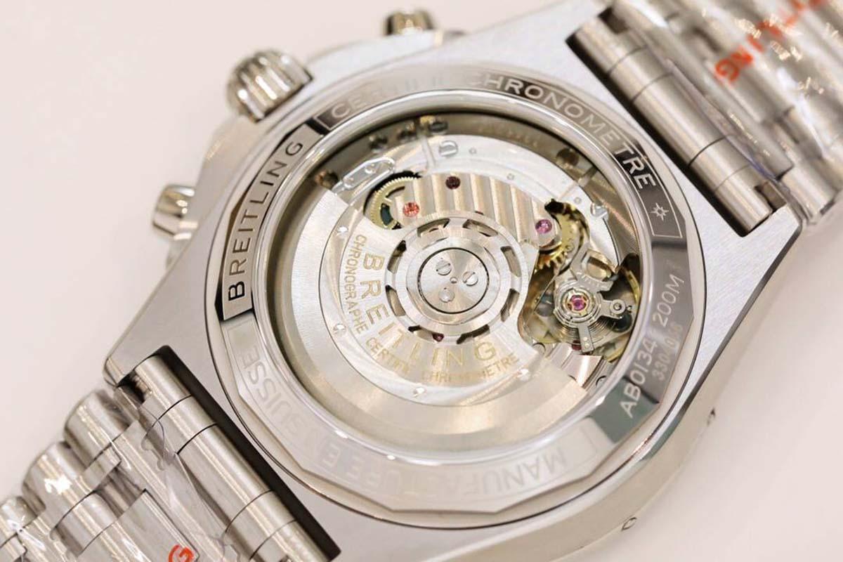 GF厂复刻版B01计时腕表42系列三文鱼色腕表做工评测-品鉴GF厂腕表