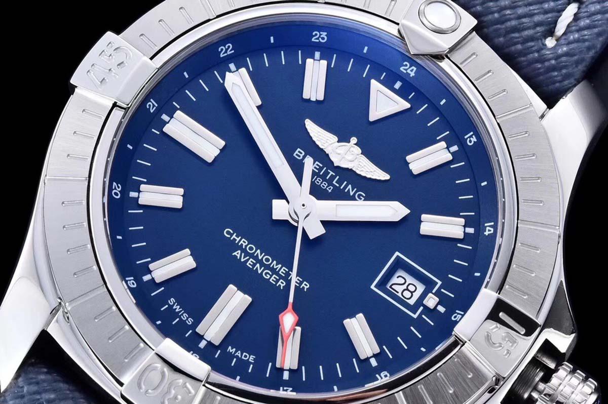 GF厂百年灵复仇者45毫米GMT蓝盘复刻腕表做工细节深度评测-品鉴 GF厂腕表