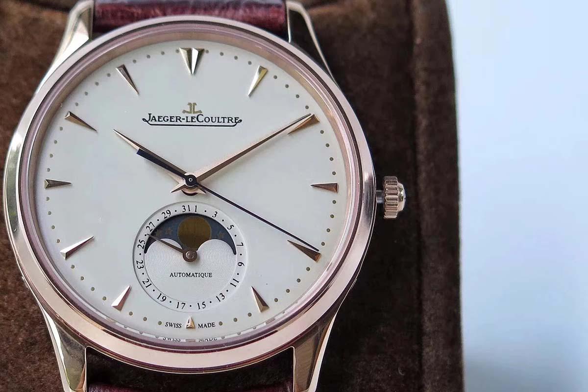 GF厂积家月相大师系列玫瑰金正装款复刻腕表做工细节深度评测