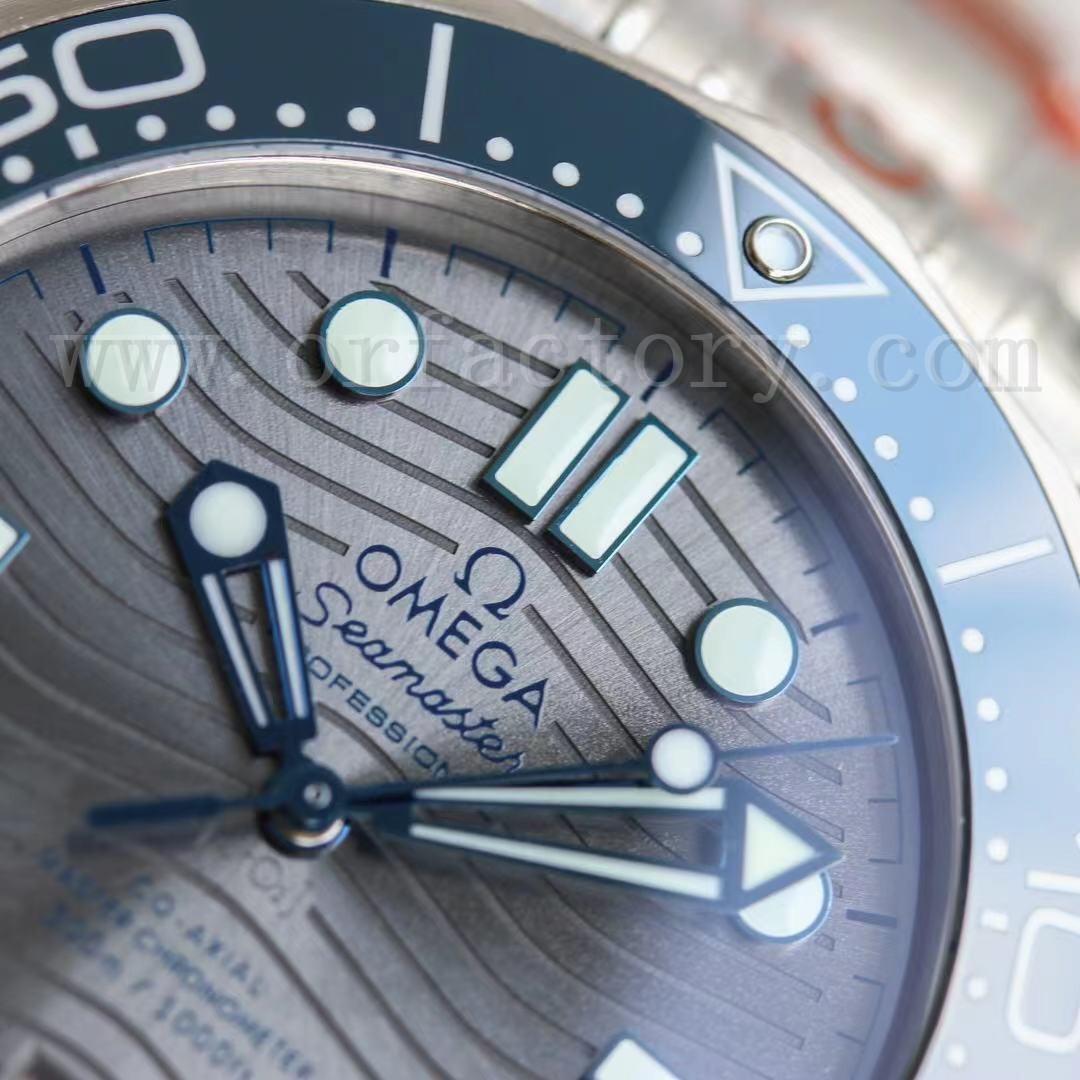 OR厂欧米茄新海马300m陶瓷灰盘波纹腕表做工评测