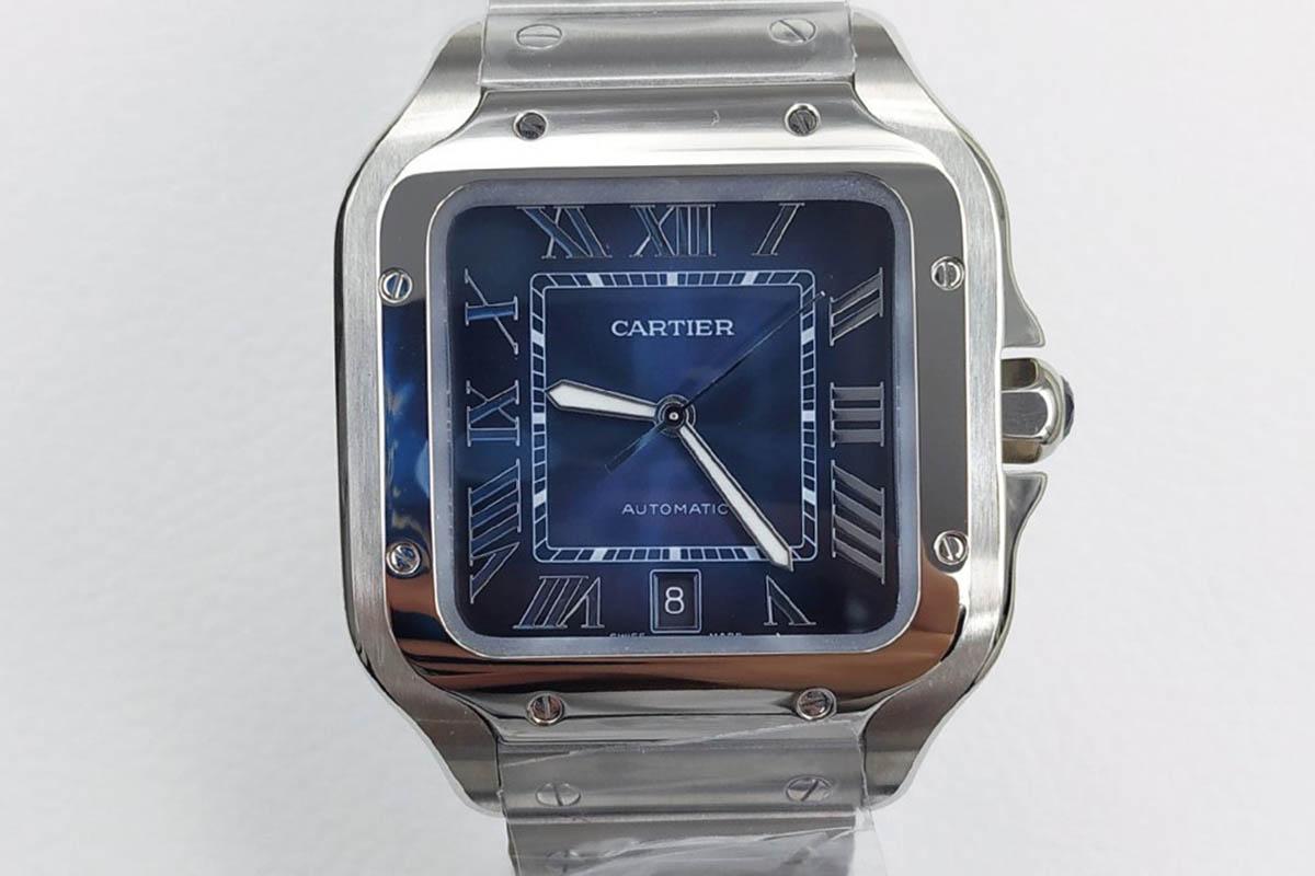 GF厂卡地亚山度士系列蓝盘复刻腕表会不会一眼假-GF厂复刻做工细节如何
