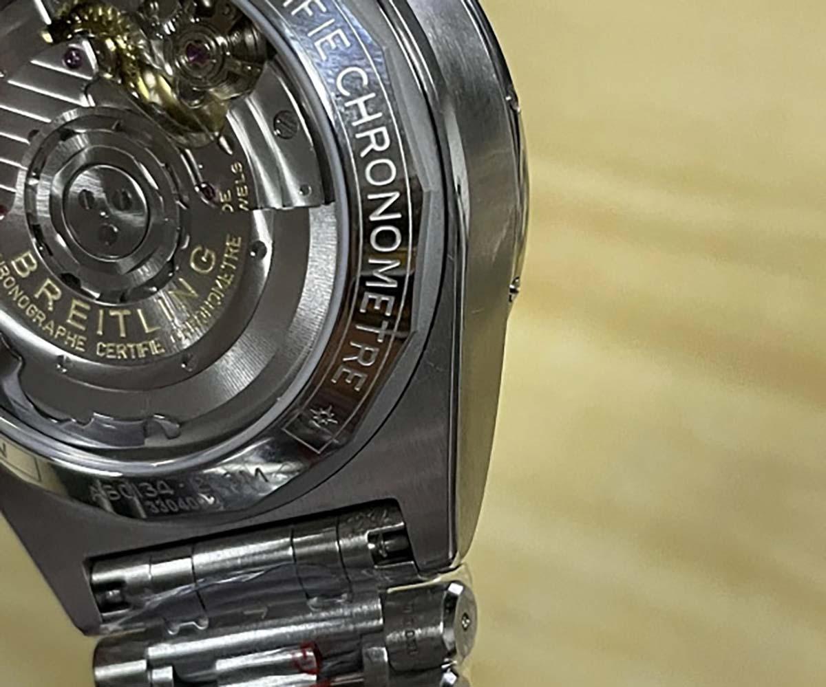 GF厂复刻版本机械计时B01系列硬核黑盘钢王-复古风格子弹链表带