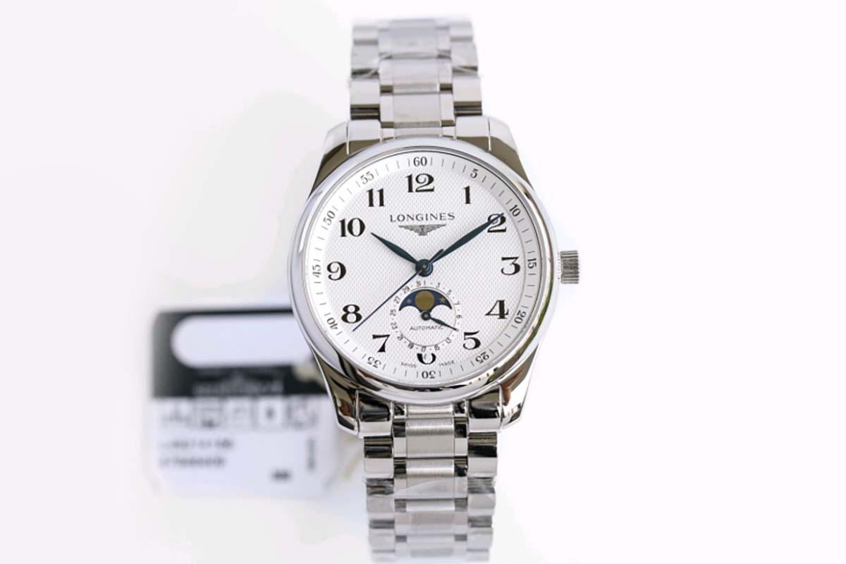 GF厂浪琴月相系列白盘复刻腕表做工如何-品鉴GF厂腕表